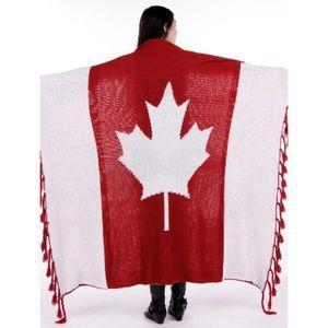 Ultra Plush Oversized Maple Leaf Soft Knit Blanket